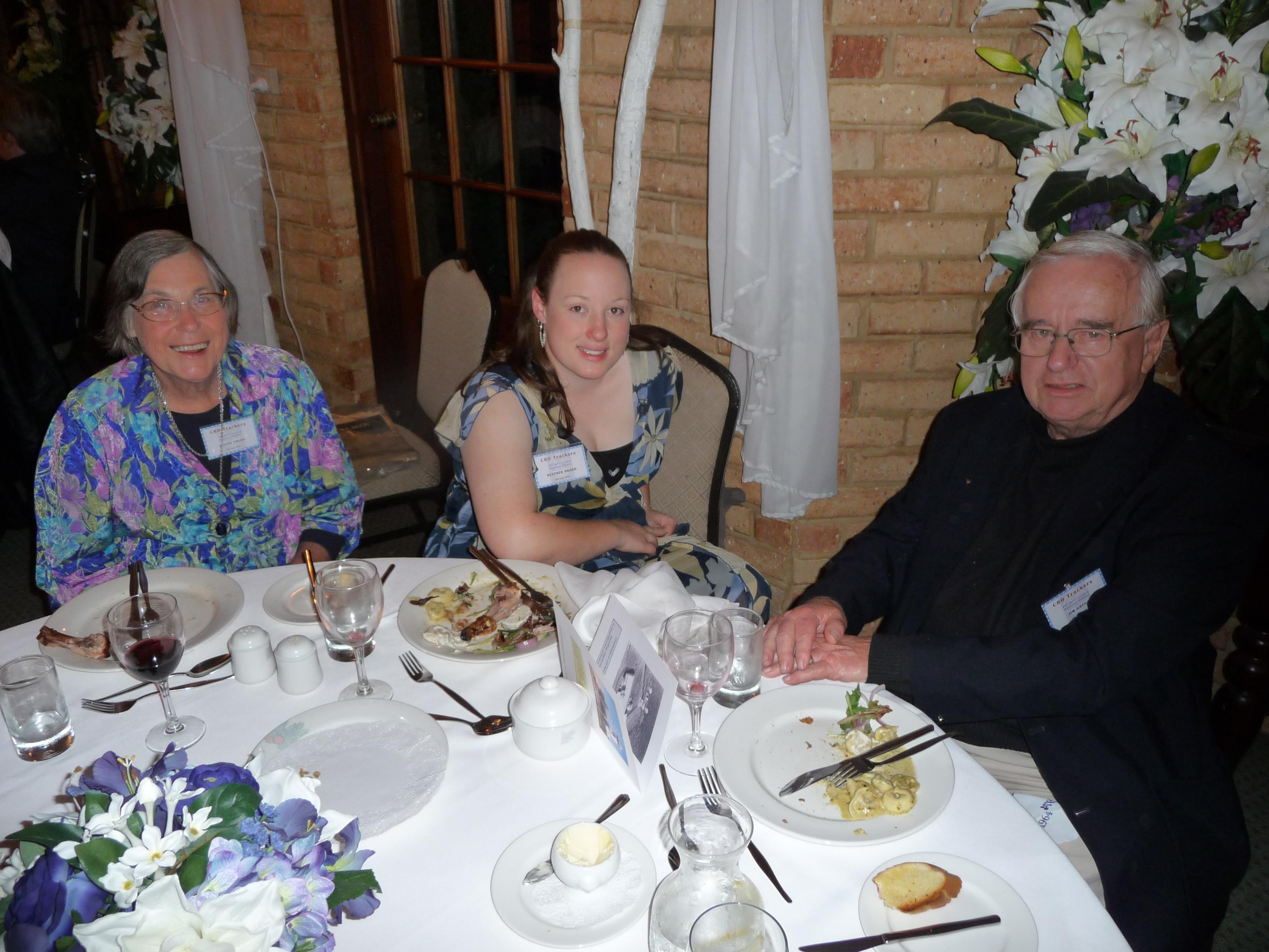 Alison Gregg, Heather Broad & Jim Gregg