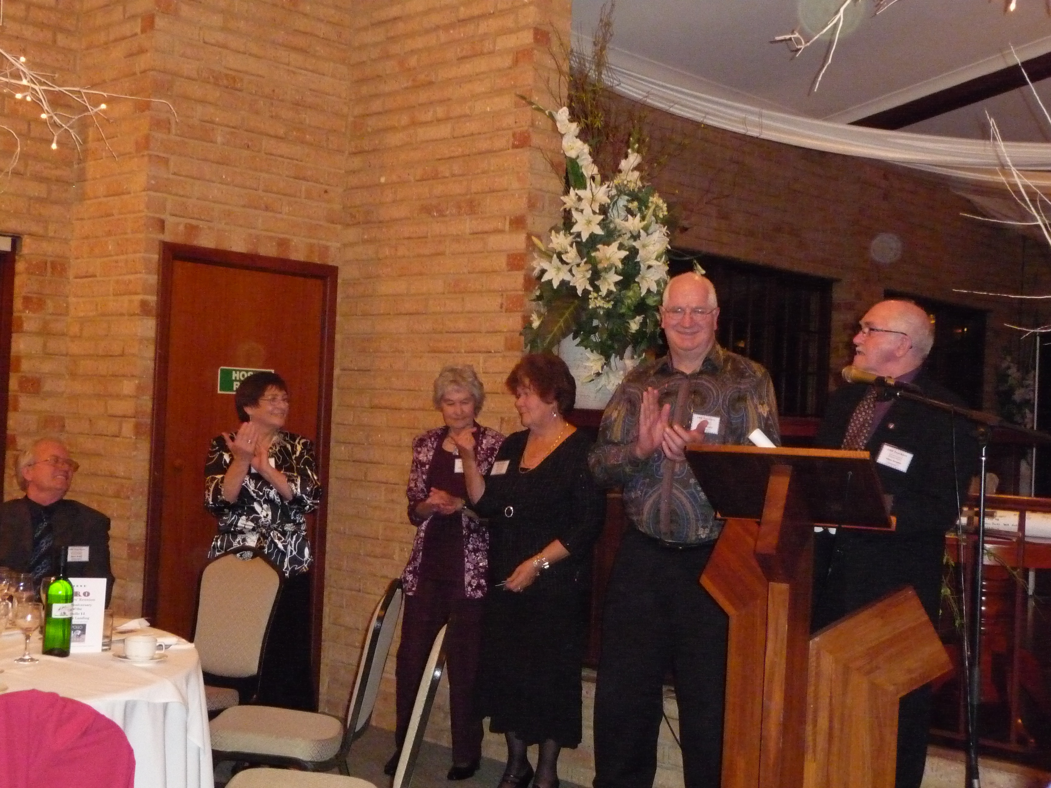 Lesley Boulton, Barbara Mitchell, Barbara King, Trevor Housley, Terry Kierans